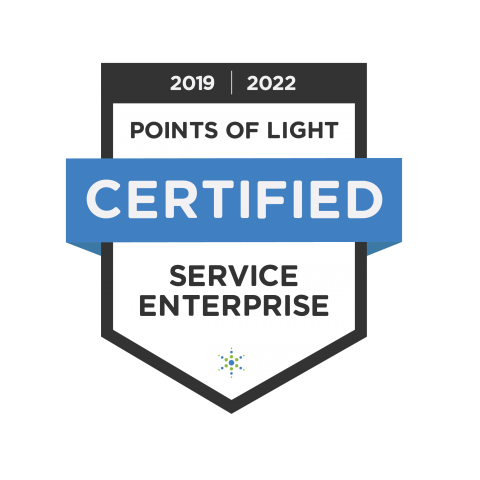 "This seal from Points of Light says ""Certified Social Enterprise."""